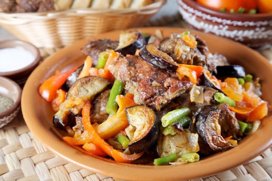 Баранина с баклажанами в духовке рецепт
