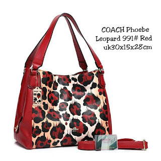 Tas KW Coach Phoebe Leopard Semi Premium 991VL Jakarta