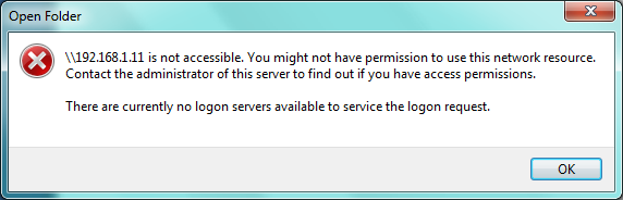 how to fix there are currently no logon servers available