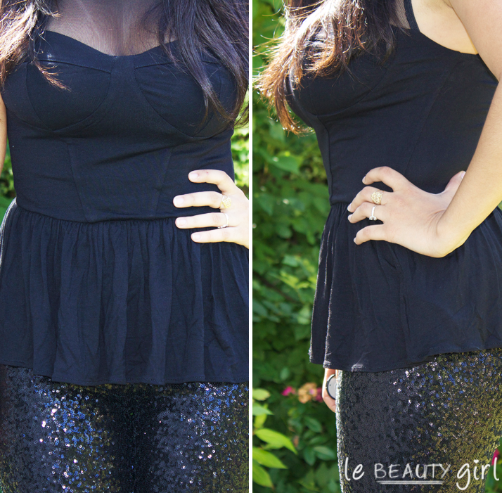 ASOS Peplum Top & TFNC Sequin Leggings