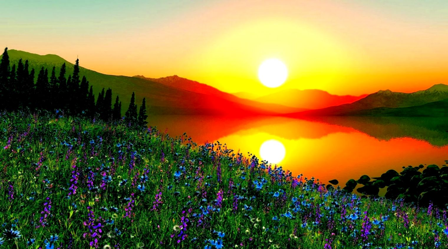 Most Beautiful Sunrise in The World   wallpaper