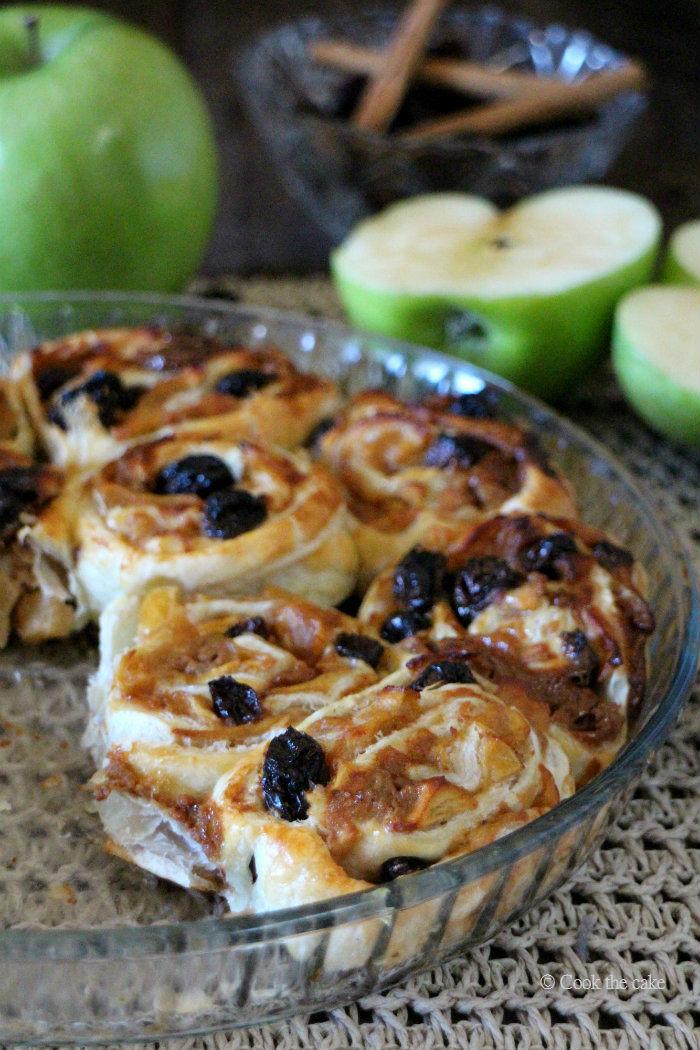 hojaldre con manzana
