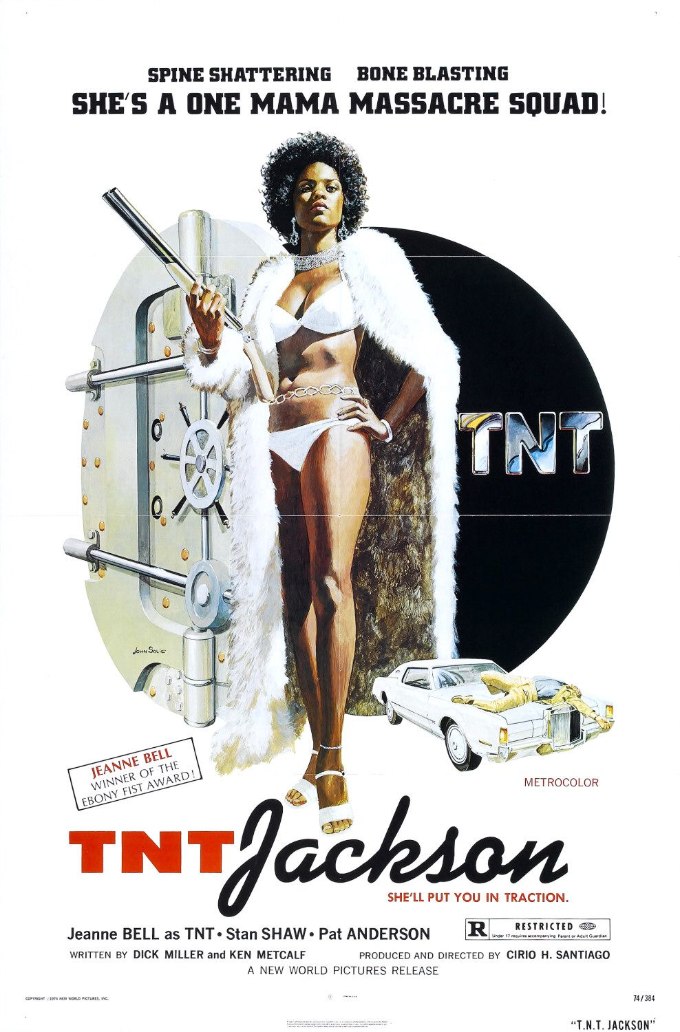 tnt%2Bjackson stock photo : 3 D rendering of a Naked woman sitting on floor, with bone