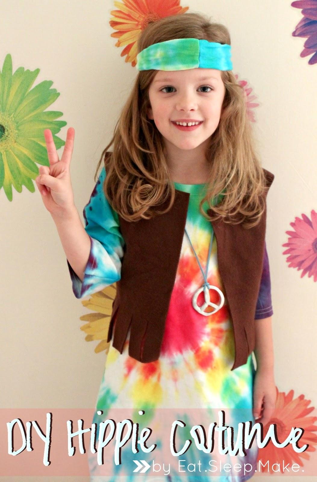 Eat Sleep Make Kid S Hippie Costume Tutorial