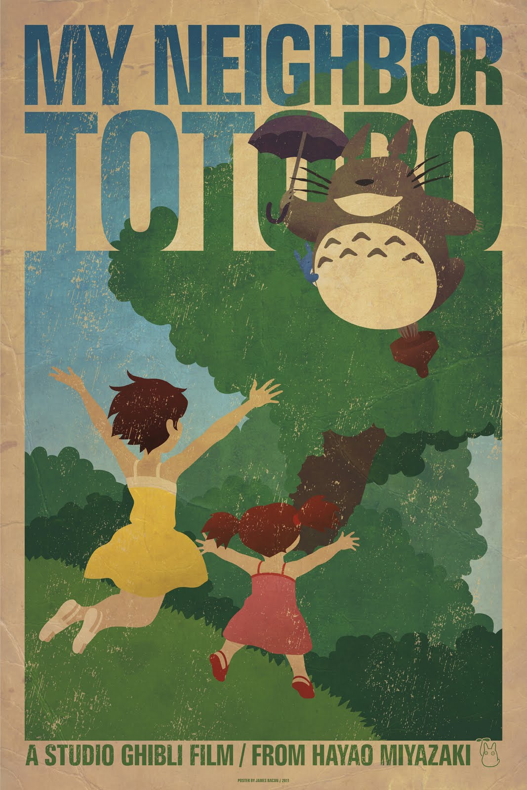 James Bacon Graphic Design: My Neighbor Totoro Poster