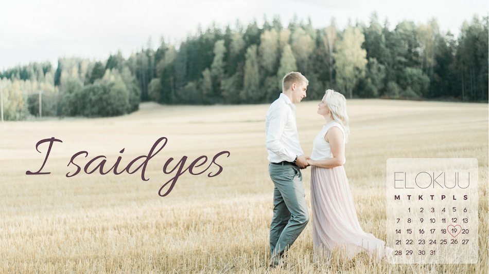 I said yes - hääblogi