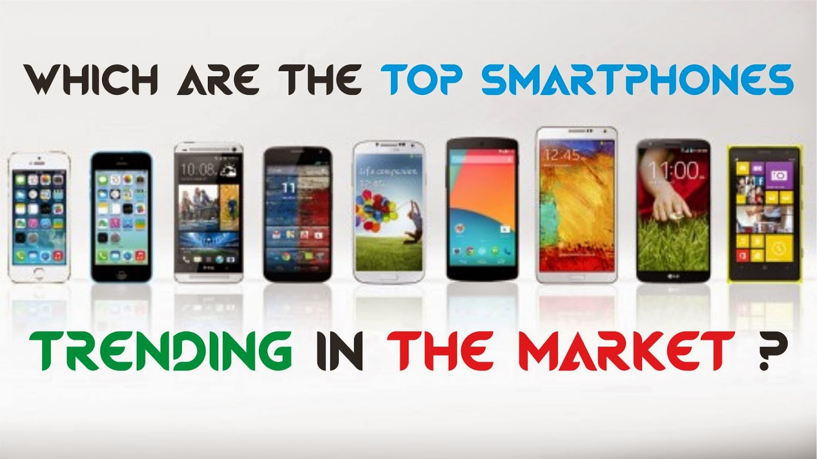 Top Smartphones Trending in the Market !