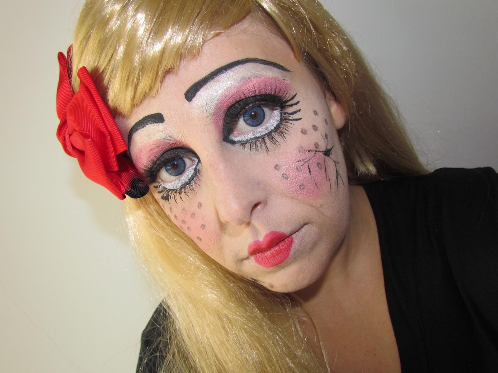 Image of gold eyes red lips makeup kit makeup and hair