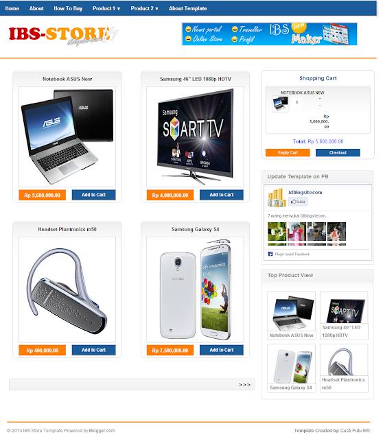 template toko online blog gratis dengan invoice email code, Invoice examples
