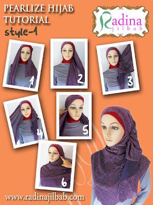 Cara Memakai Hijab Pearlize