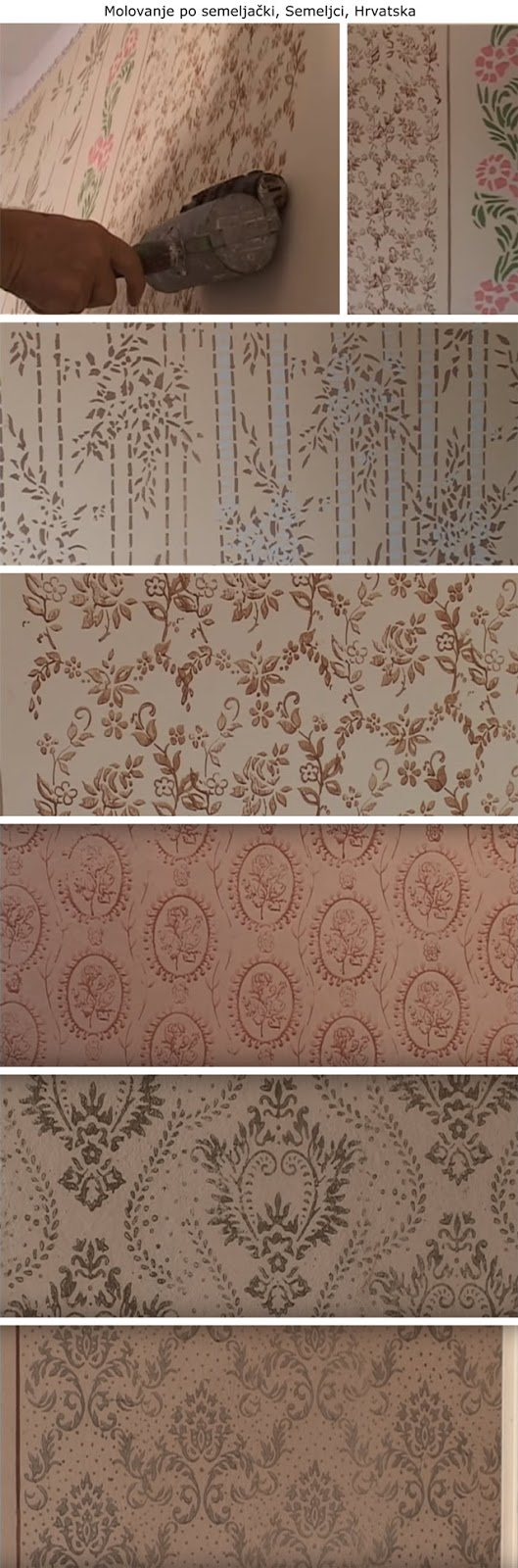 decorazione, rulli decorativi vintage, wall painting, vintage patterned paint rollers, starinski reljefni valjci za moleraj, šabloni, mustre
