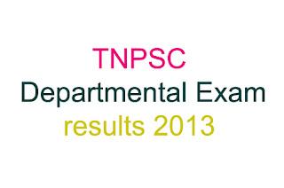 tnpsc Departmental results 2013