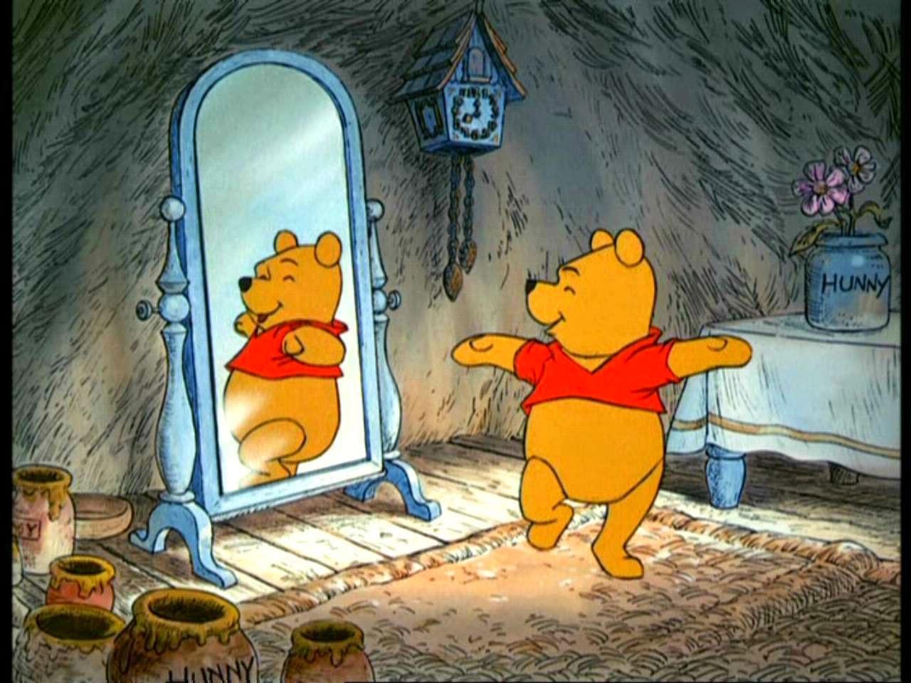 El espejo g tico winnie the pooh y la fobia a los espejos for Espejo unidireccional psicologia