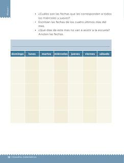 Apoyo Primaria desafíos matemáticos 1er grado Bimestre 1 lección 6 El calendario