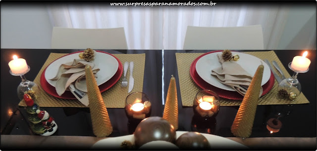 mesa para o natal