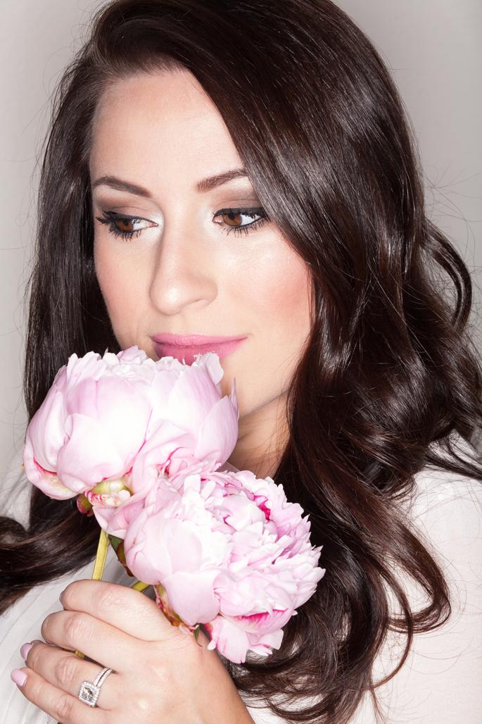 mac lovelorn lipstick, pink peonies, romantic makeup, too faced neutral eye shadow