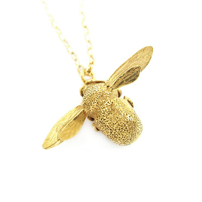 Alex Monroe bumble bee necklace