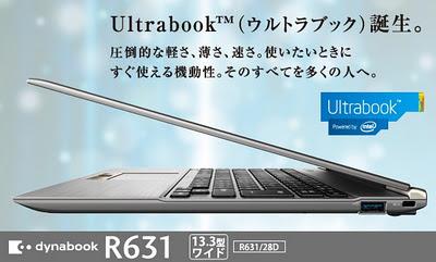 Dynabook R631 Ultrabook Produk Toshiba