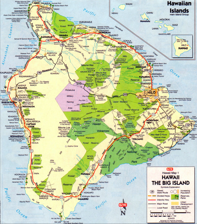 Handy image with printable map of hawaii