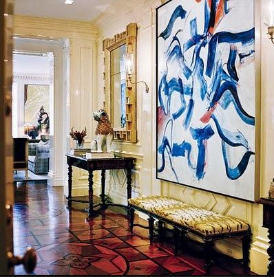 modern art patterned floors