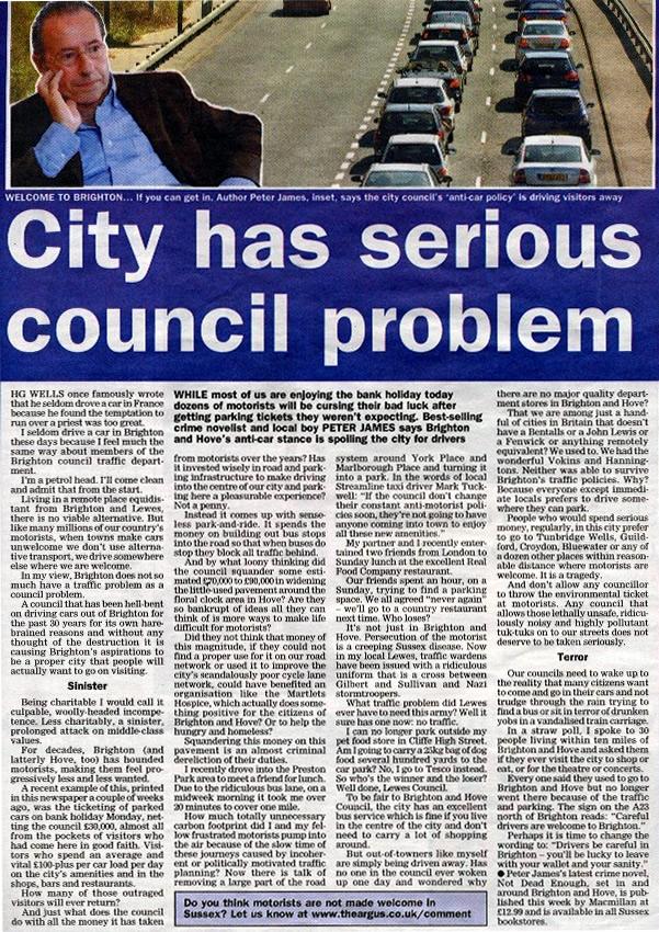 brighton traffic city has serious council problem. Black Bedroom Furniture Sets. Home Design Ideas