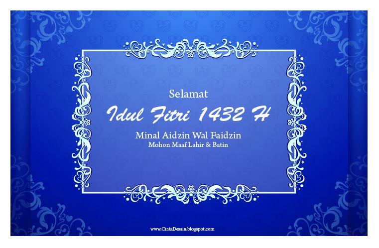 Desain Kartu Ucapan Selamat Idul Fitri 1432 H | Mohon Maaf Lahir dan ...