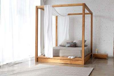 canopy bed, modern, contemporary, furniture, bedroom suite, transitional
