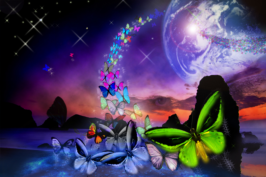 Fantasy Butterfly World Wallpapers | Top Quality Wallpapers