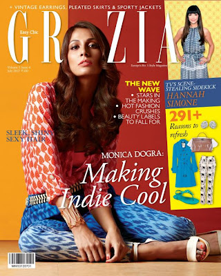 Monica Dogra: Grazia Magazine Cover Page July 2012