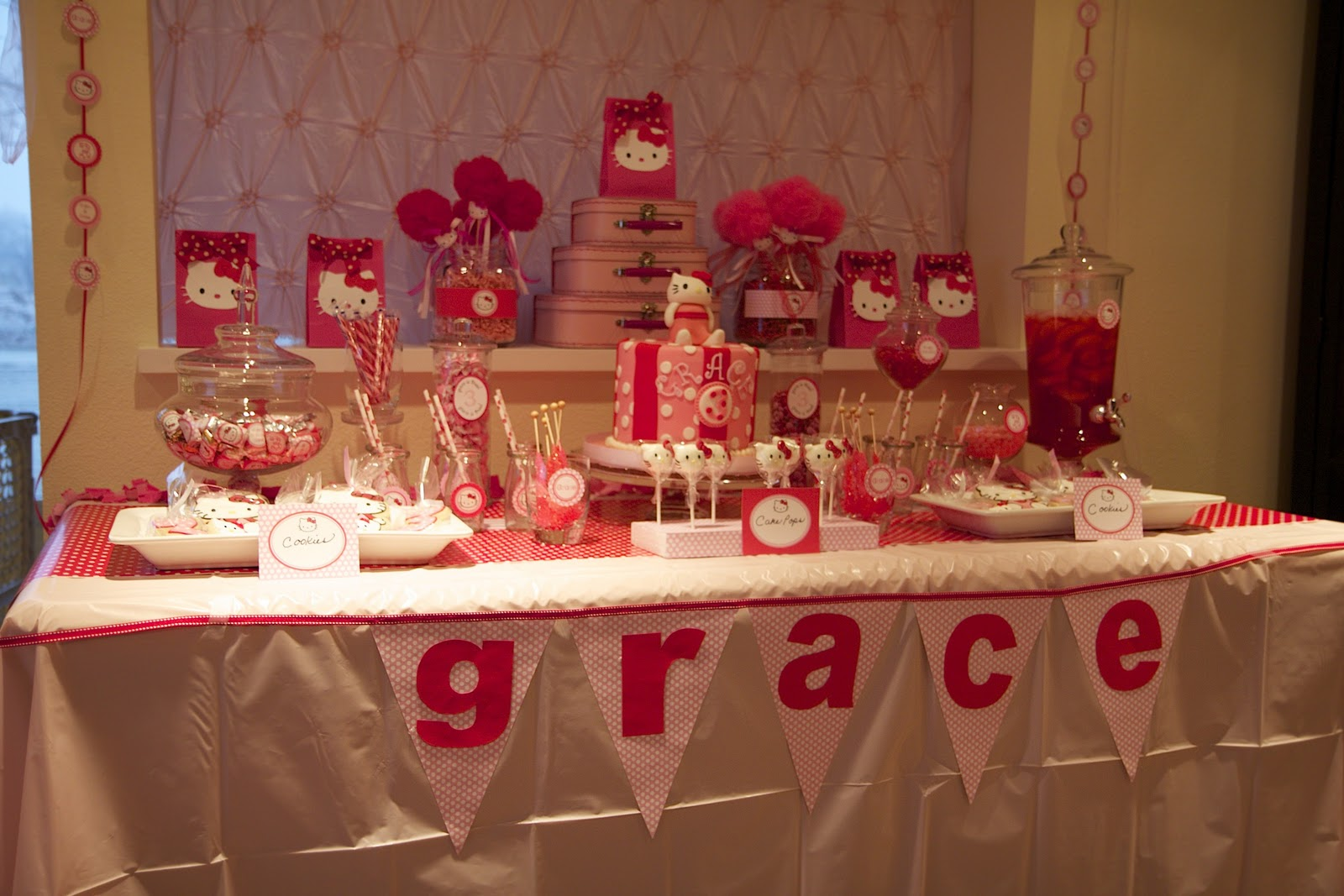 Home Sweet Home Place Graces Hello Kitty Birthday Party