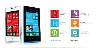 Harga Smartfren Huawei Ascend W1 Terbaru 2013, Windows 8 Dengan Kamera 5MP
