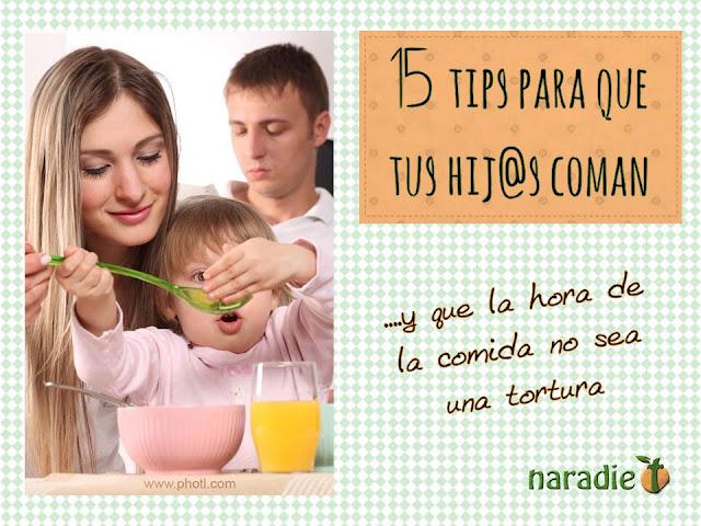 15 tips para que tus hijos coman bien