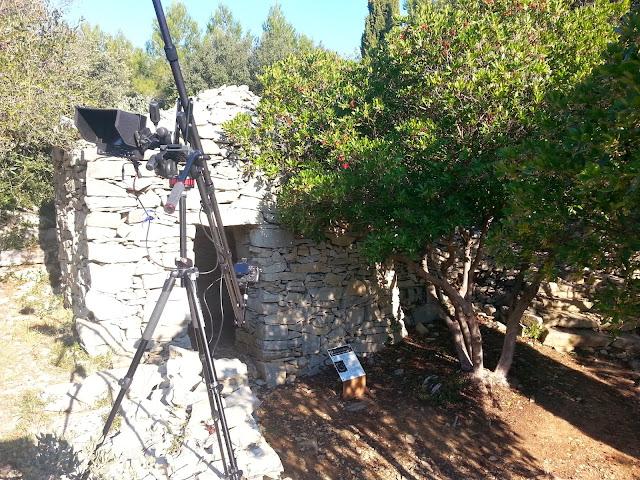 La Combe des Bourguignons vue, tournage du film