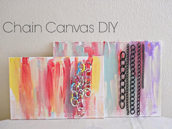 Chain Canvas DIY