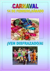 CARNAVAL !!!! Ven disfrazad@ y divertirnos juntos!!! // 14 febrero (sábado)