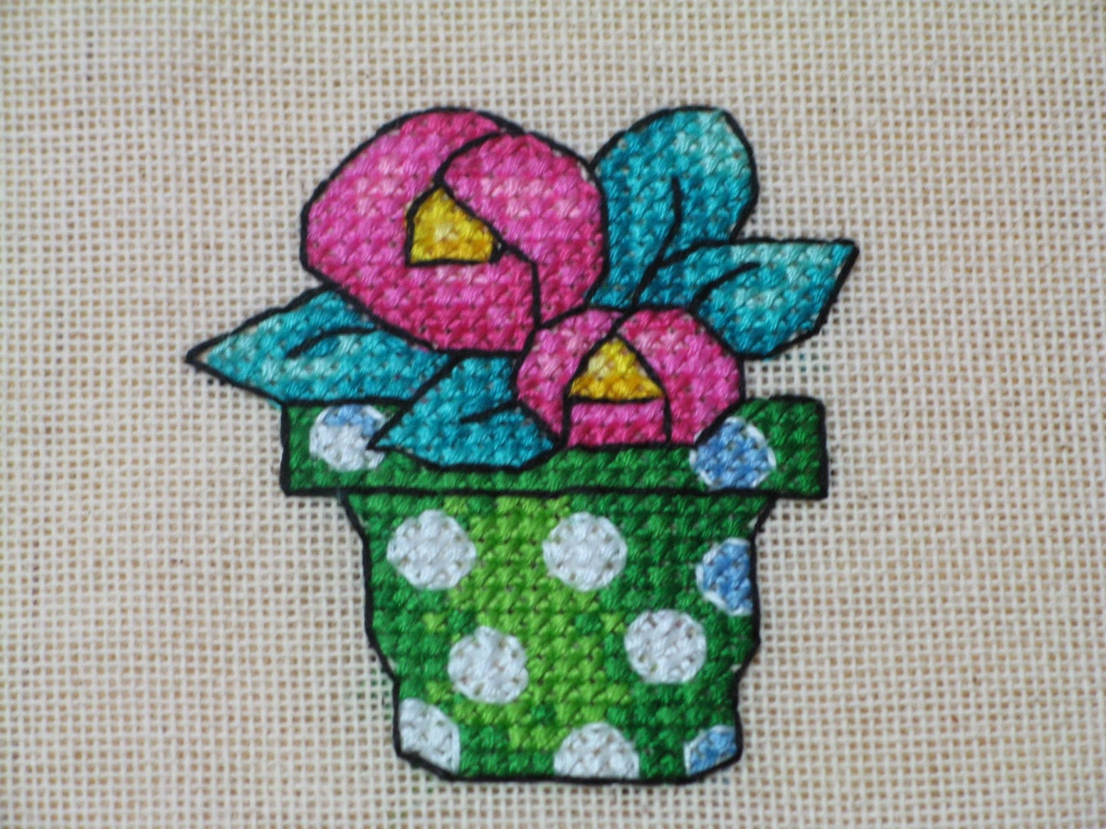 Mary Engelbreit mini cross stitch