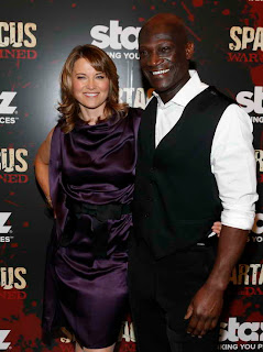 Lucy Lawless and Peter Mensah at Spartacus War of the Damned Premiere event in NY