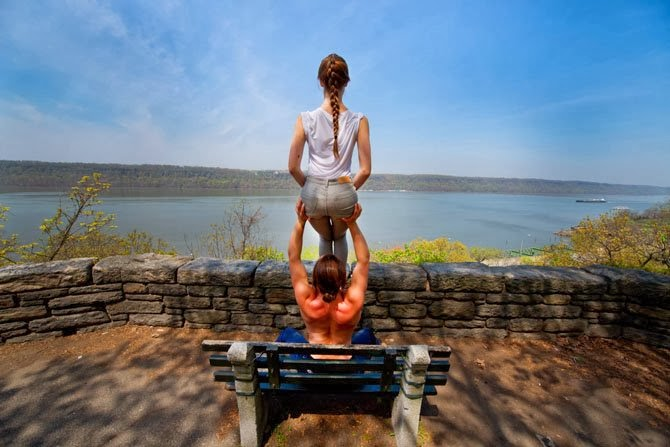 Acro Yoga proves best views at the Top