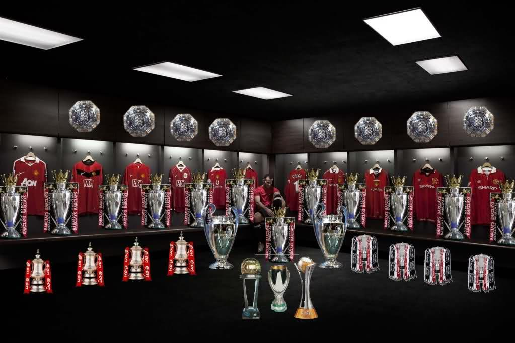 pin manchester united trophy room on pinterest