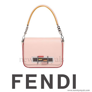 Queen Rania of Jordan FENDI 3 Baguette Chain Color Trim Leather Bag