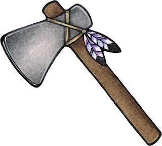 Desenho de machado colorido