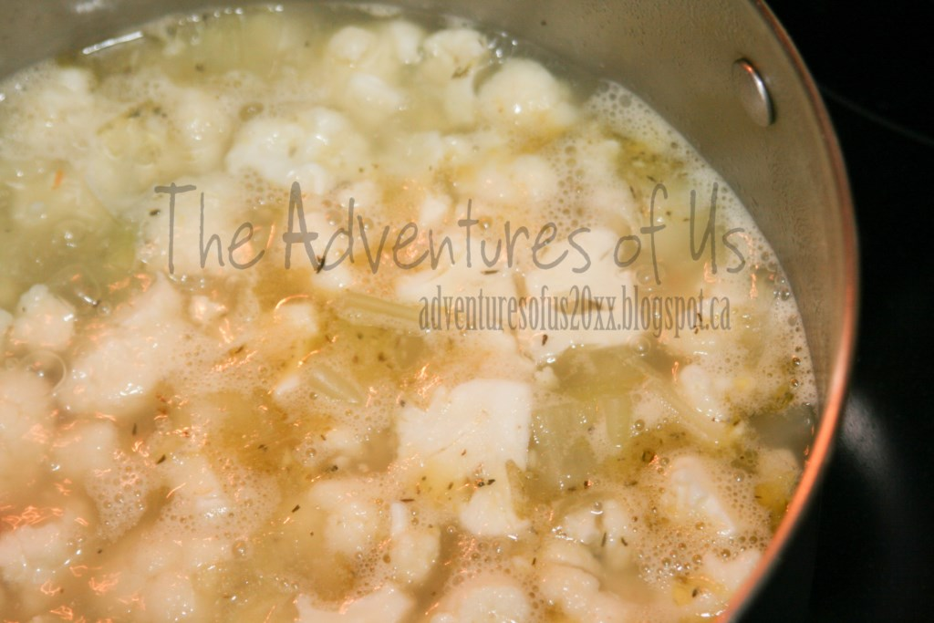 The Adventures of Us: Cauliflower Soup with Sharp Cheddar & Thyme