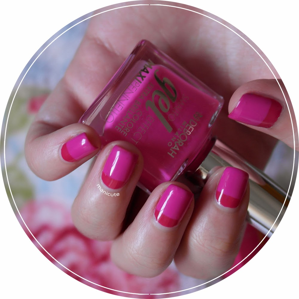 Nail art color block deborah