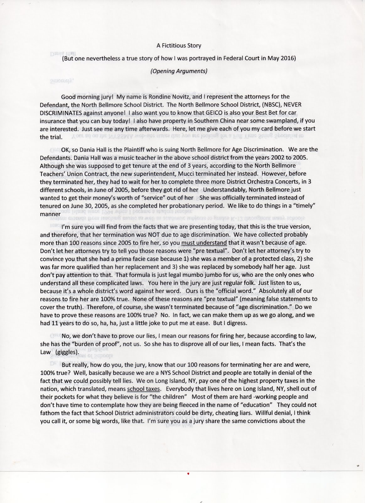 A Fictitious Story (revised) page 1