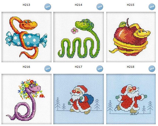 вышитые змеи и Деды Морозы