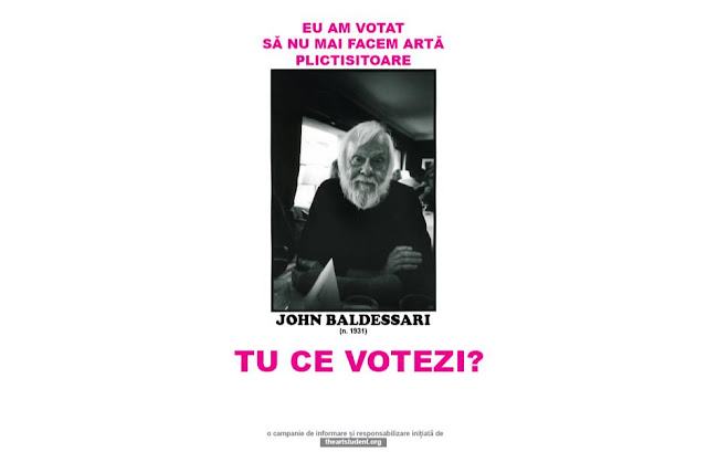 the art student vote campaign university of arts iasi art students initiatives john baldessari