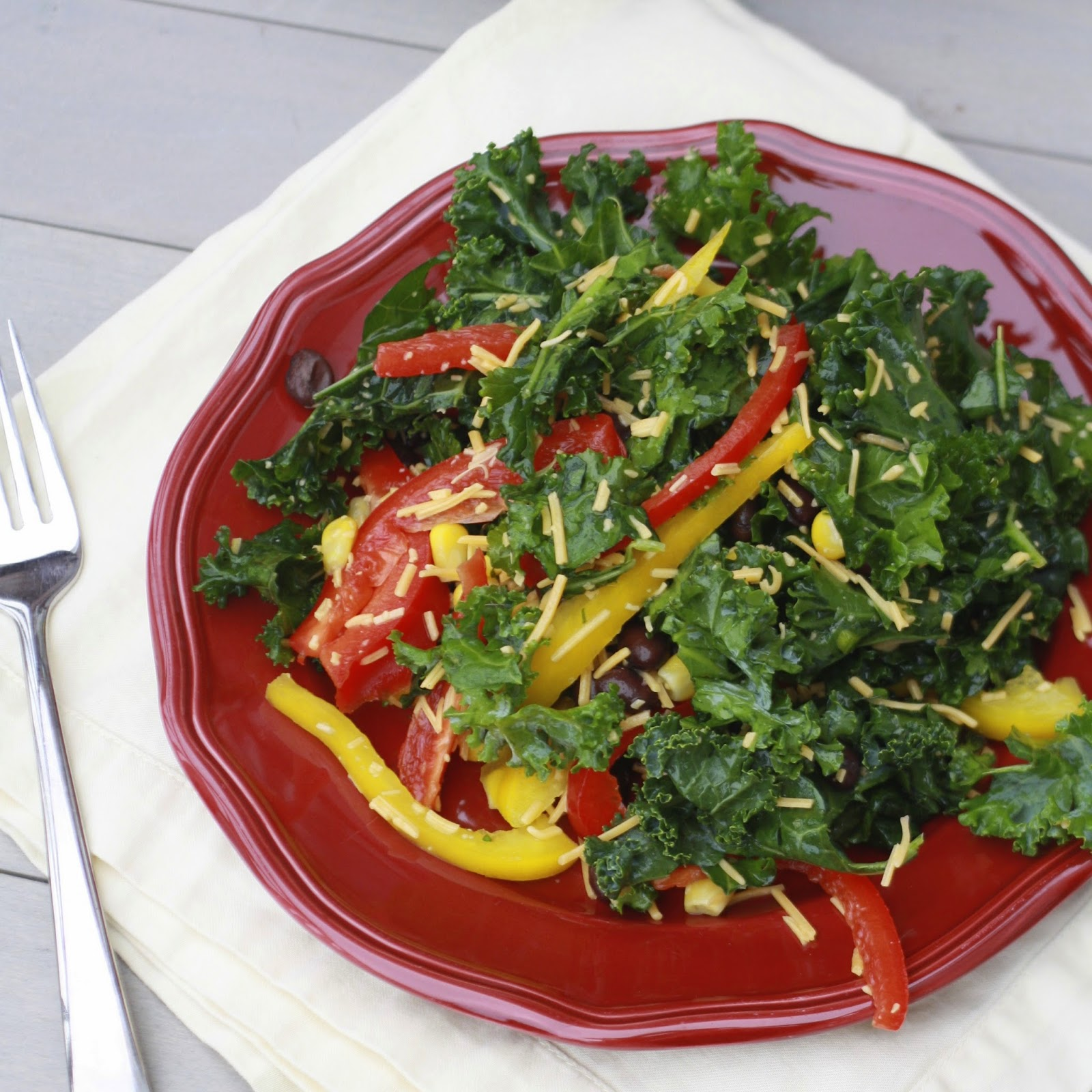 Mexican Kale Salad | The Sweets Life
