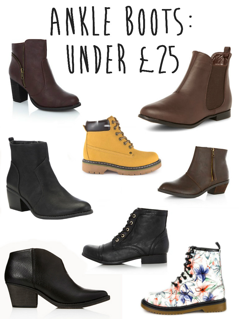 Ankle Boots Under 25 Pounds