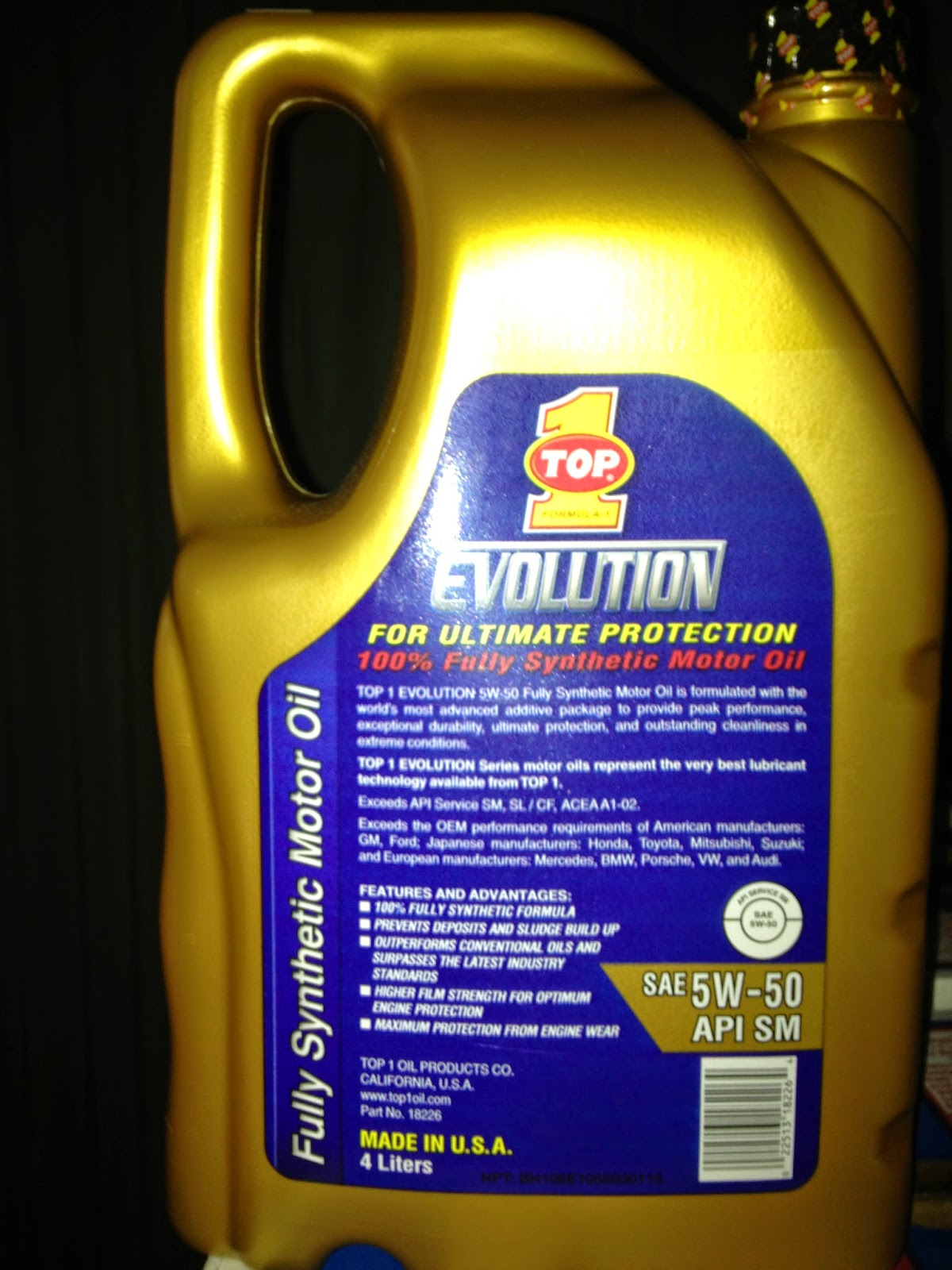 Mahindra scorpio johor bahru selling top1 engine oil 5w50 for 5w50 synthetic motor oil