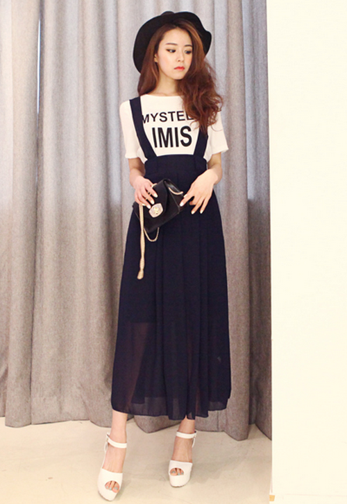 dabagirl sheer maxi skirt with suspenders kstylick